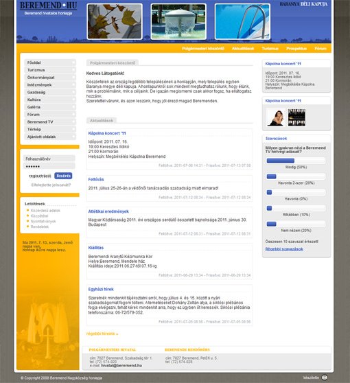 Beremend hivatalos honlapja