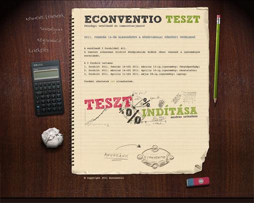 Econventio tesztrendszer
