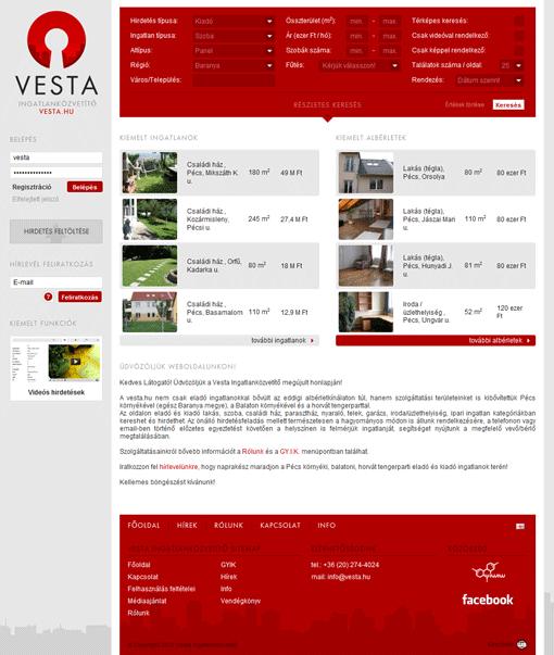 Vesta ingatlanközvetítő